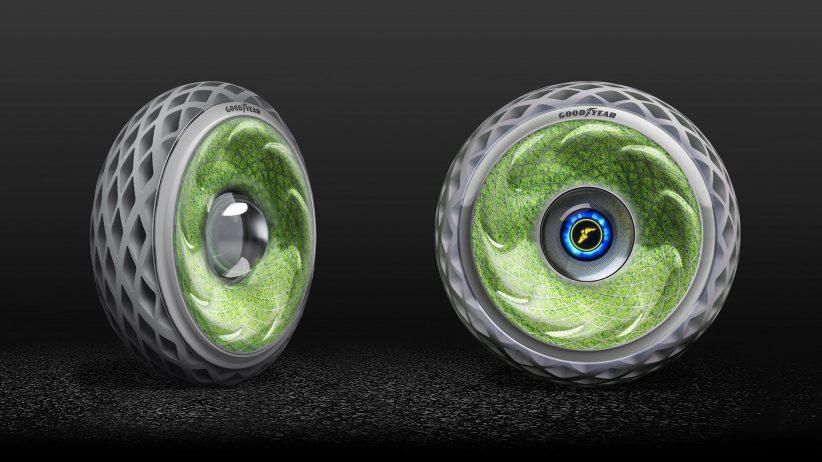 """이산화탄소를 산소로 바꾸는 굿이어 """"살아있는"""" 타이어"""