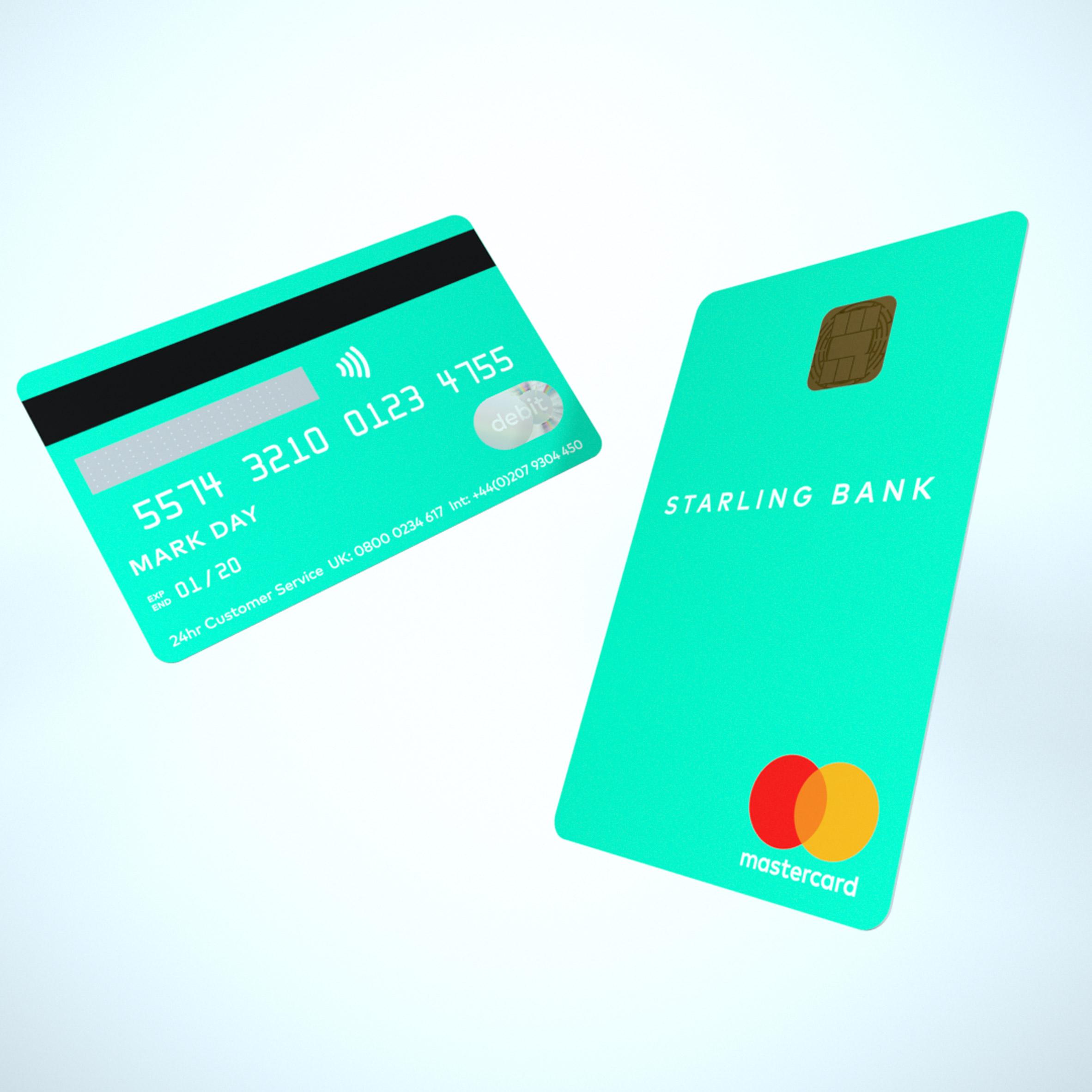 영국 디지털은행 스탈링 세로보기형 직불카드 출시