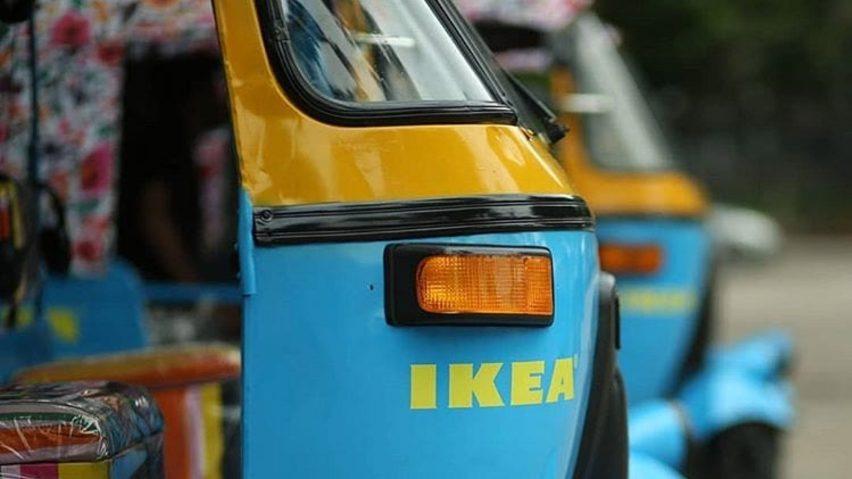 이케아 첫 인도매장 태양전지 수레로 배달서비스