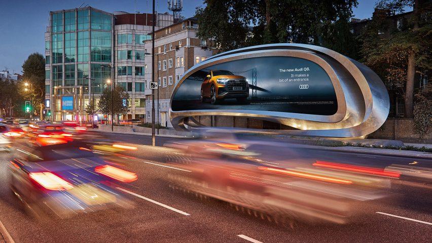 자하 하디드의 역동적인 디지털 광고판