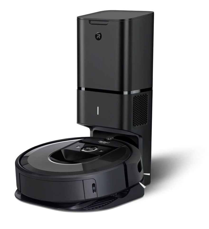 충전 중 먼지통비우는 룸바 로봇청소기