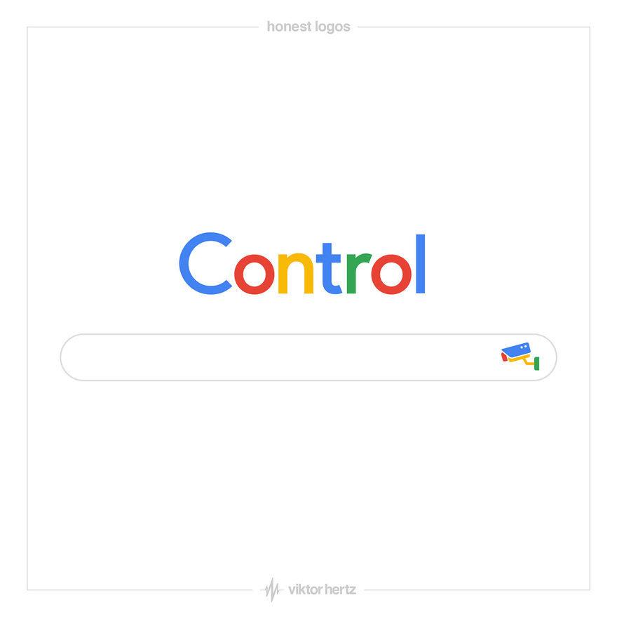 기업의 실상을 풍자적으로 표현한 빅토르 헤르츠의 '정직한 로고'