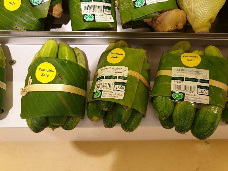 바나나잎, 플라스틱프리 친환경 채소포장재로 활용