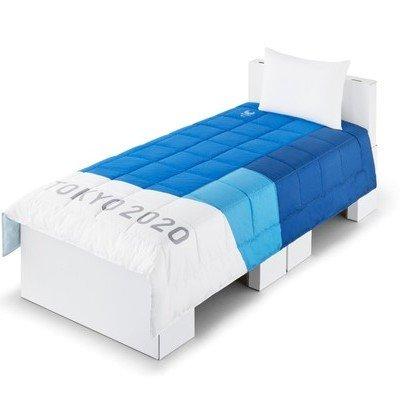 도쿄 2020 선수들을 위한 침대 마분지로 제작