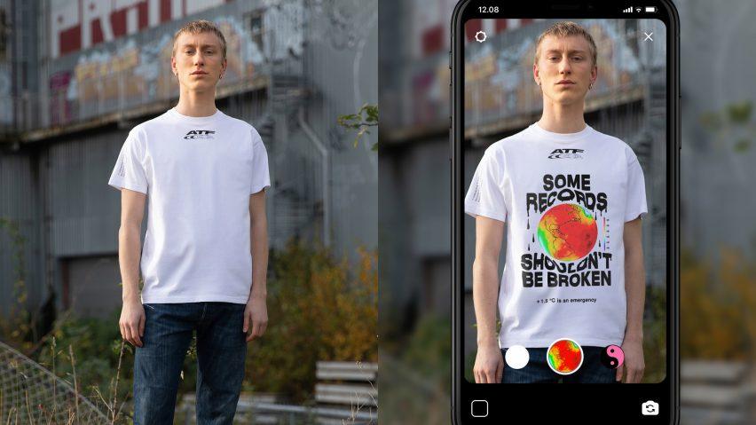 SNS 사용자를 겨냥한 칼링스의 증강현실 티셔츠