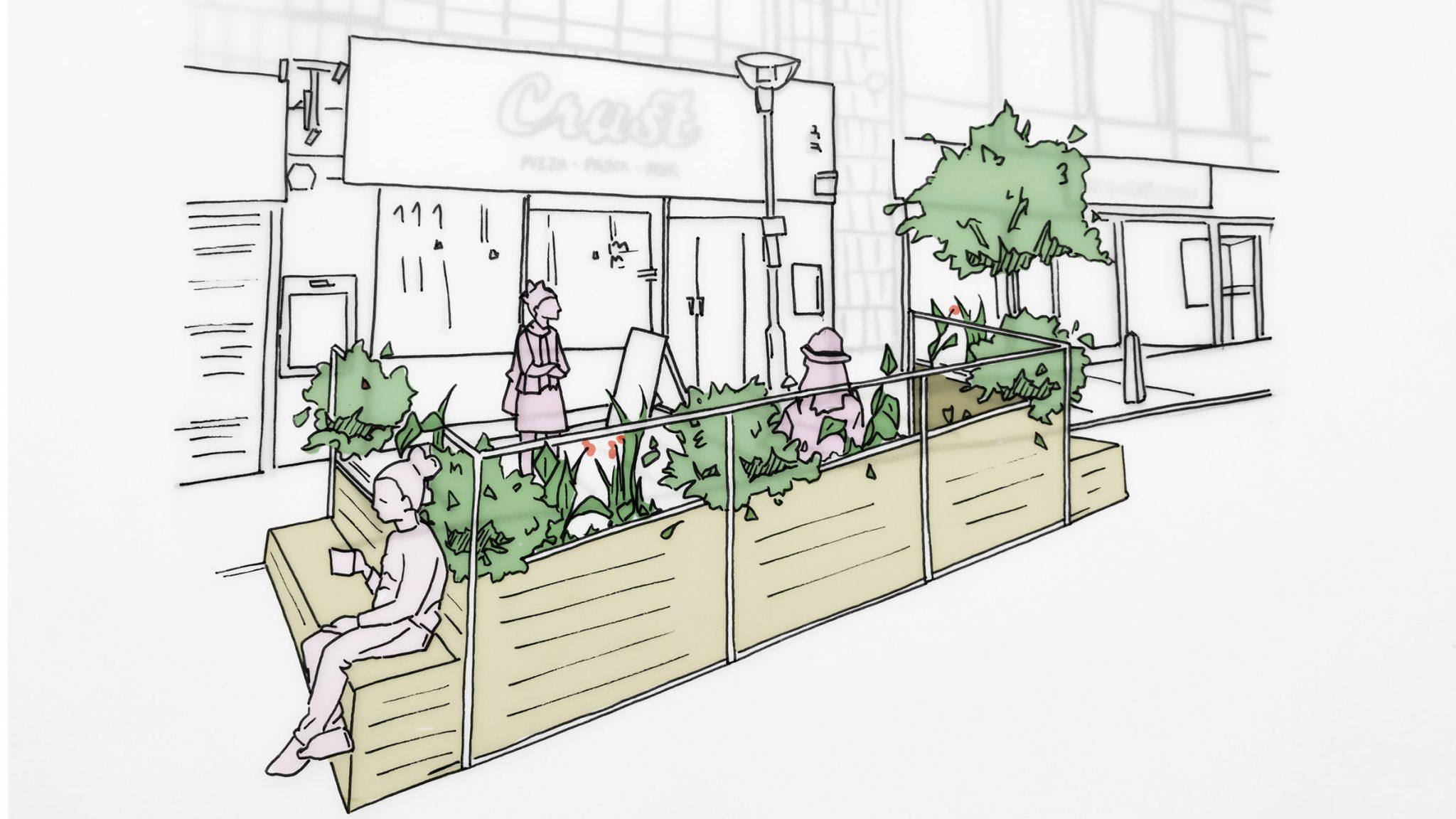 아룹, 사회적거리두기 방안으로 '파크렛' 디자인