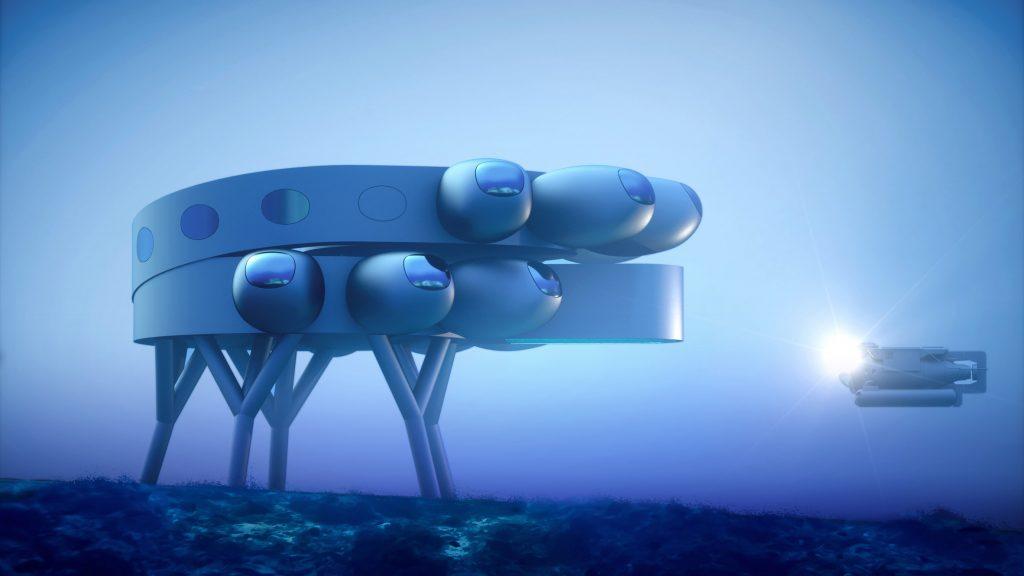 이브 베하, 온실갖춘 바닷속 연구소 설계