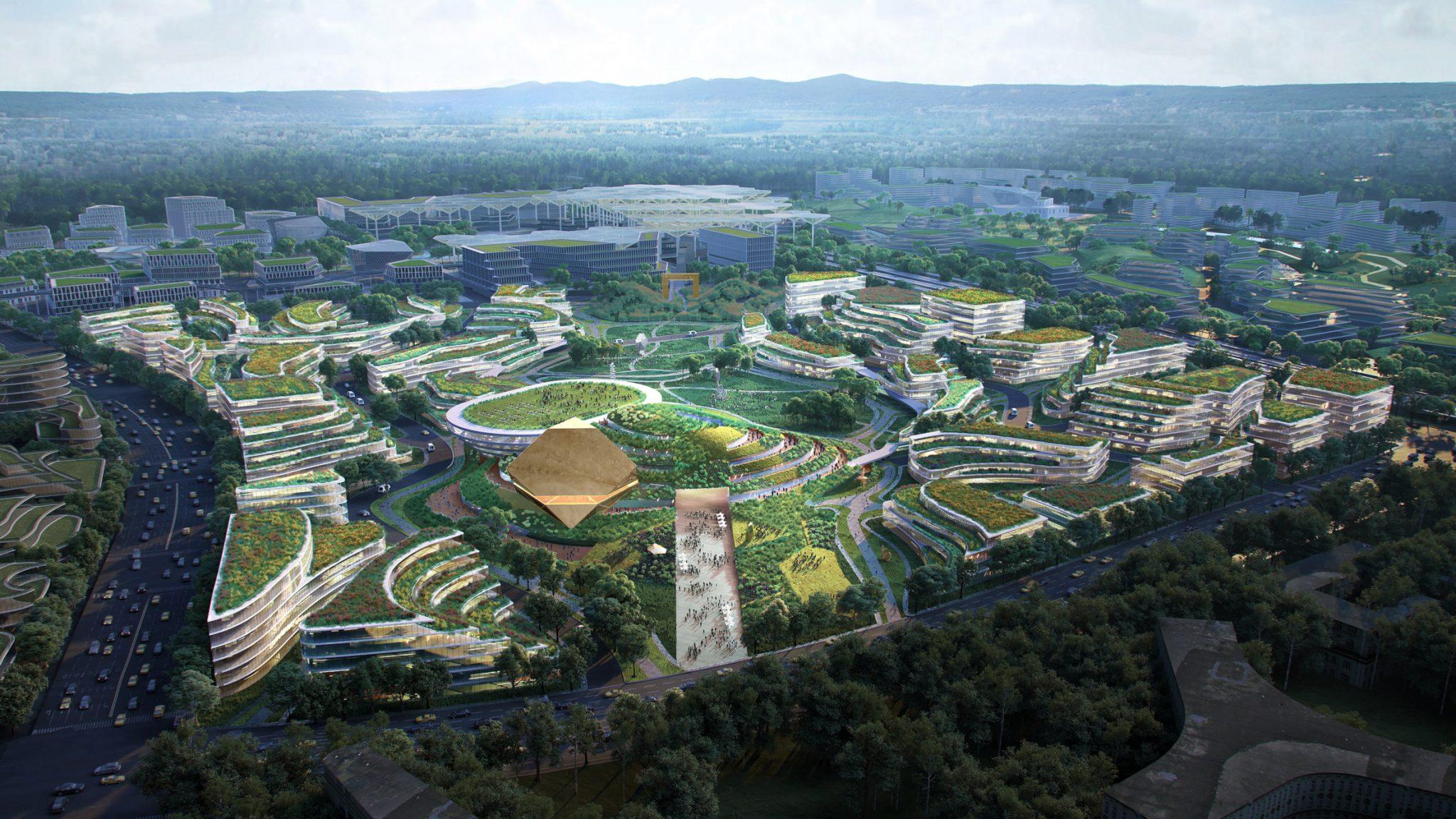 청두 미래도시, 지형에 순응하며 차없는 계획도시로 추진