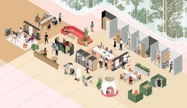 '코로나19가 바꾼 업무 환경의 미래' 스틸케이스, 2021년 업무 경험 보고서 발표